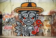 Street Art / Eigenständige Ausprägungen von Kunst im öffentlichen Raum, die zeitgemäßer sind als ein Bild im Rahmen an einer Wand