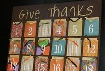 Thanksgiving / Ideas and suggestions for promoting thankfulness - even year-round!