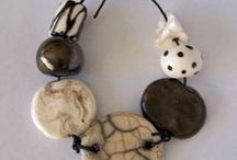 Ceramic and wood jewelry