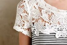 Lace Inspiration / A collection of lace clothing, items or projects.