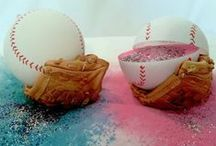 Best Gender Reveal Ideas! / Best Gender Reveal Balls!! They have Baseballs, Softballs, Footballs, Soccer Balls, Golf Balls, and Shooting Targets! Great for gender reveal parties. Pink for girl and Blue for Boy and add some spice with Glitter! These balls produce the largest reveal cloud on the market!