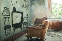 Forgotten spaces / Abandoned places and spaces.