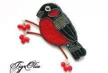 Вдохновение от птиц / Воплощение в бисере пернатых созданий и все, что с ними связано
