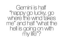"""Gemini / """"Never tell a Gemini what to do because it will only make them do the opposite, you will lose this fight."""""""