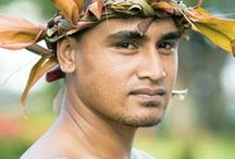 Samoan People / Native people of Samoa and American Samoa, also living in New Zealand and Australia.