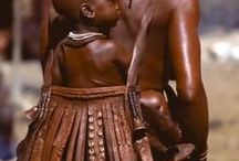 Himba People / native people of Namibia and Angola. speakers of the OtjiHimba dialect of the Herero language, of the Bantu family.