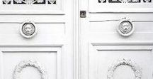 INSPIRING DOORS / A collection of beautifully inspiring doors.  I love to study the colours and materials used in doors for interiors inspiration and style.  There are lots of front door paint colours featured from all around the world.