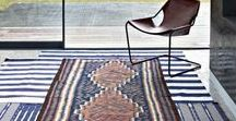 COOL RUGS / Sometimes just adding a pop of colour with a new rug can dramatically change the look and feel of a room.  Try even overlaying rugs and adding light rugs on light coloured flooring for a feeling of added space in a room.