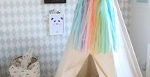 CUTE KIDS ROOMS / I love elements of both the traditional and the modern for a baby's nursery and child's bedroom.  We have soft pinks and duck egg blue in the girl's room and it looks so lovely.  I love lots of white, pretty patterns, cute objects and sweet bedding and quilts with quirky art and accessories.  Check out this board with some fun inspiration and ideas for your childrens' room and play spaces.