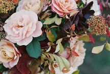Autumn Wedding / Deep rich tones, fallen leaves and hand tied bouquets...
