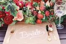 Wedding Tablescapes / Beautiful table setting & centre piece ideas...
