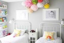 "Little Girls Bedroom / ""A daughter is a day brightener and a heart warmer."" Author Unknown"
