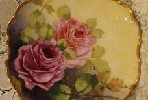 porcelain painting,plates / dekoratif porselen boyamalar