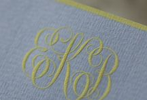 Monogram it!! / It it can be monogram it  is a beautiful way to personalize your wedding, STD, Stationery and more !