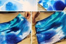 water colour vs spray paint
