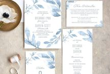 Watercolor florals / Watercolor florals are always a beautiful delicate look for your wedding papers