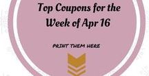 Top Coupons from Coupons.com - Printables / Coupons are a big deal at my place and sharing with you my Top Coupons every week I believe can give you an ideas on how to start saving a coin or two :)  Let's save together.  Visit http://fortheloveto.com/coupons