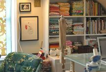 Craft Rooms / Inspiration for creating a space for sewing and/or crafting...