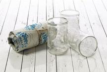 Nappe-lastenlasi / Nappe lasten juomalasi on valmistettu kierrätetystä lastenruokapurkista käsityönä Suomessa.