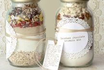 Baking as a gift / Baking as a gift: sweets, cookies, popcorn, chocolate etc. nice decorated and in beautiful wrapping