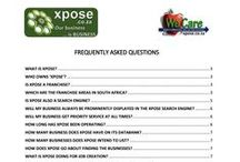 Xpose - FAQ's / Frequently Asked Questions