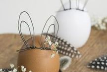 Pâques, Poussins et Lapins... / Pour la déco de printemps et sur le thème du lapin!
