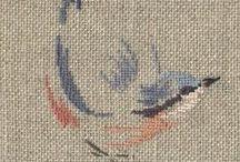 Embroidery / Punto croce, ricamo tradizionale e........