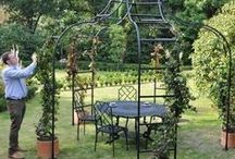 Gazebos / A Harrod decorative galvanised steel Gazebo will add a stunning feature to your garden, far from just a substantial garden structure for many climbing plants, the gazebo will be a magnificent all year round focal point