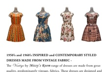 Vintigo by Missy's Room (New from Vintage Fabric) / In this Album you will find our range of newly made dresses, predominantly tailored from vintage fabric.
