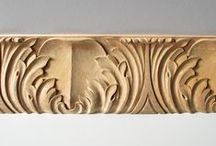 Hand-Carved Wood Moulding / Hand-carved wood mouldings add museum-quality beauty to any high-end trim project, cabinet, or piece of furniture.