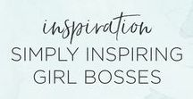 "Simply Inspiring Girl Bosses / Get inspired by girl bosses who are sharing their journey and encouraging others along the way.   ""Be the smartest girl in the room and be proud of it"""