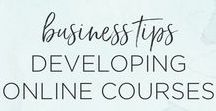 Business Tips for Creating Online Courses / Business tips for creating online courses for creative entrepreneurs and small business owners | online courses, e-courses, how to build an online course, marketing, creative entrepreneur, small business owner, youtube
