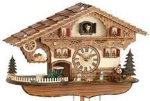 Cuckoo Clocks Battery Operated / Battery operated cuckoo clocks. Hand crafted in the Black forest of German. Chalet style and traditional carved clocks. Automatic night light sensors on all. Some are available with music.