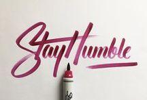 Handwriting • Typography / Il est grand temps de rallumer les étoiles...