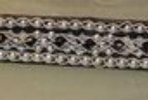 Tenntrådarmband / Pulceras echas en hilo de plata