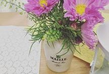 Maille {Decor} / C'est style! Legacy, style, and elegance all come together in our vintage jars, the perfect touch to any kitchen or French country themed decor.
