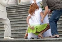 The Craziest Wedding Photos / Your wedding should be the happiest day of your life but sometimes it just doesn't go according to plan, from boobs popping out to just plain crazy and inappropriate check out our favorite wedding blunders and mishaps!