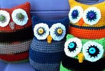 crochet and sewn pillows and cushions