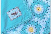 crochet blankets / afghans / throws / rugs / koce, narzuty, dywaniki szydełkowe