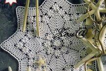 crochet doilies / mandalas / coasters / okrągłe elementy, serwetki, podkładki itp.