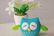 crochet stars and owls / sowy i gwiazdy