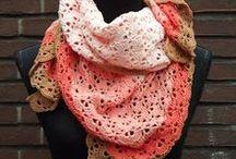 crochet scarves, shawls, wraps / szydełkowe szale, chusty, otulacze