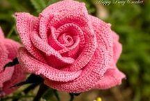 crochet flowers, leaves and freeform / szydełkowe kwiaty, liście i freeform