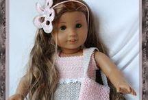 crochet dolls clothes: American Girl and Barbie / szydełkowe ubranka dla lalek American Girl (~46cm) i Barbie