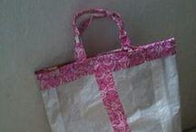 Crafty: Bag Reuse Project / Feed bag crafts, Cat Food bags, Dog Food Bags, Stock Feed bags, Reusable Totes / by Sarah Davis