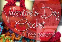 crochet hearts and Valentine - szydełkowe serca i Walentynki