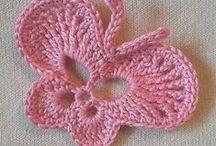 crochet butterflies, bees etc. / szydełkowe motyle, pszczoły itp.