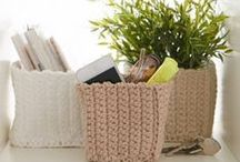 crochet baskets and containers / szydełkowe koszyki i pojemniki
