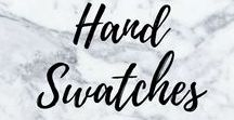 Swatches / My Gallery of hand swatches that include lip products, eye makeup etc #HandSwatches