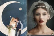 * midnight magic * / Dramatic midnight hues and starlight sparkle -  Wedding Colour Inspiration by Love Art Wear Art